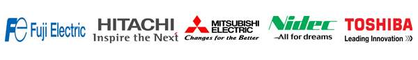 LOGO1 Our Motor Products: FUJI, Mitsubishi, HITACHI, TOSHIBA, NIDEC