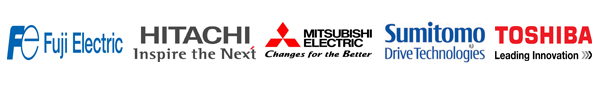 LOGO2 Our Motor Products: FUJI, Mitsubishi, HITACHI, TOSHIBA, NIDEC