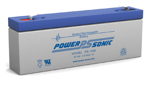 picture2 จำหน่าย แบตเตอรี่ Powersonic รุ่น PS 1220 12 Volt 2.5 AH Rechargeable Sealed Lead Acid Battery